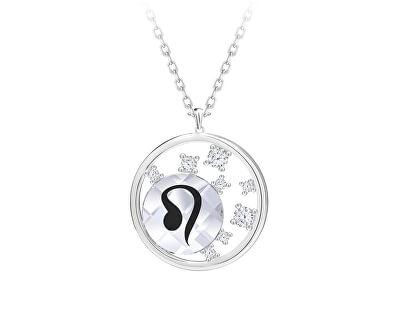 Stříbrný náhrdelník s českým křišťálem Lev Sparkling Zodiac 6150 88 (řetízek, přívěsek)