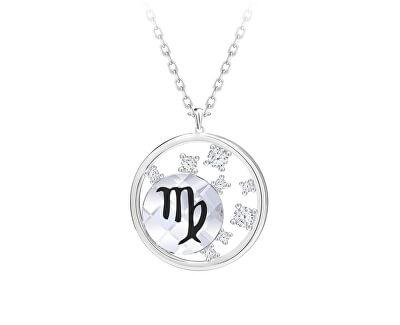 Stříbrný náhrdelník s českým křišťálem Panna Sparkling Zodiac 6150 89 (řetízek, přívěsek)