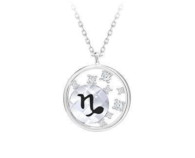 Stříbrný náhrdelník s českým křišťálem Kozoroh Sparkling Zodiac 6150 81 (řetízek, přívěsek)