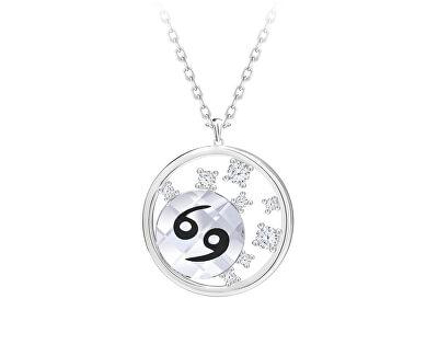 Stříbrný náhrdelník s českým křišťálem Rak Sparkling Zodiac 6150 87 (řetízek, přívěsek)