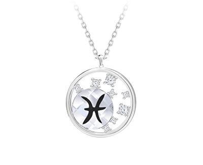 Stříbrný náhrdelník s českým křišťálem Ryby Sparkling Zodiac 6150 83 (řetízek, přívěsek)
