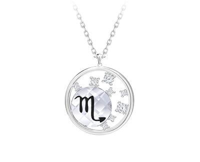 Stříbrný náhrdelník s českým křišťálem Štír Sparkling Zodiac 6150 91 (řetízek, přívěsek)