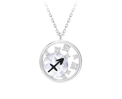 Stříbrný náhrdelník s českým křišťálem Střelec Sparkling Zodiac 6150 92 (řetízek, přívěsek)
