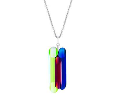 Colier din argint cu cristale de neon Colectia de Veronica 6074 70