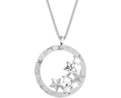 Výrazný oceľový náhrdelník Virgo 7340 10