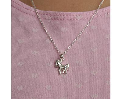 Kinder Silber Halskette Pferd KO8063_BR030_40 (Halskette, Anhänger)