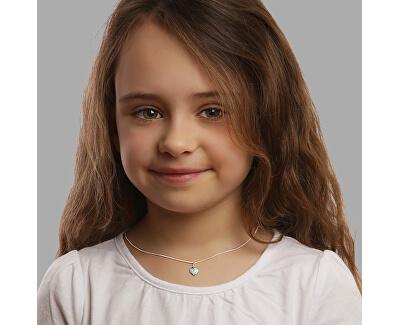 Dětský stříbrný náhrdelník Mint Heart KO6345_CU035_40_RH (řetízek, přívěsek)