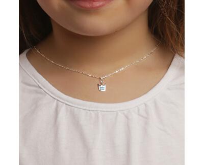 Dětský stříbrný náhrdelník Modrá korunka KO6357_BR030_40_RH (řetízek, přívěsek)