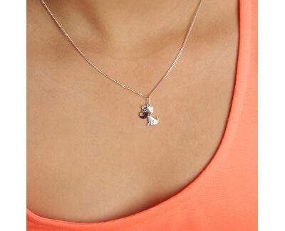 Dívčí stříbrný náhrdelník Pejsek KO2068_CU035_40_RH  (řetízek, přívěsek)