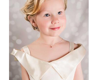 Dívčí stříbrný náhrdelník s krystalem KO2091_BR030_40_RH  (řetízek, přívěsek)