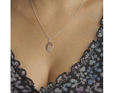 Elegantní stříbrný náhrdelník s krystaly KO1752_FI040_50_RH  (řetízek, přívěsek)