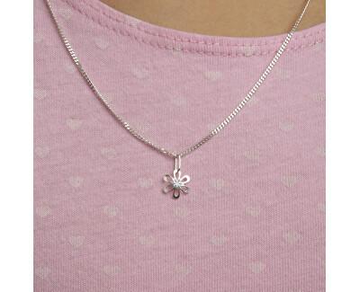 Dívčí stříbrná sada Květiny SE1262_CU035_40_NA0646_RH (řetízek, přívěsek, náušnice)