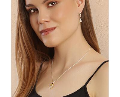 Luxusní bicolor náhrdelník ze stříbra Golden Rain KO6416_BR030_45_RH (řetízek, přívěsek)