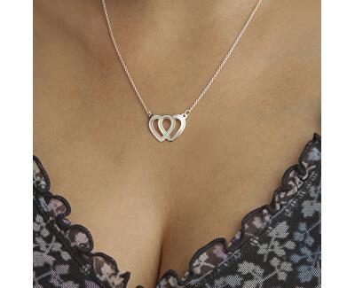 Nádherný stříbrný náhrdelník s propojenými srdci Lovela N6061_C_RH