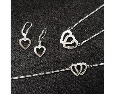 Nádherný stříbrný náramek s propojenými srdci Lovela KA6063_C_RH