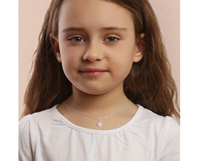Něžný stříbrný náhrdelník Pastelkový květ KO6481_BR030_40_RH (řetízek, přívěsek)
