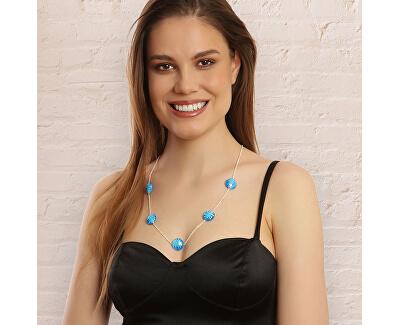 Originální stříbrný náhrdelník Blue sky N6422_RH