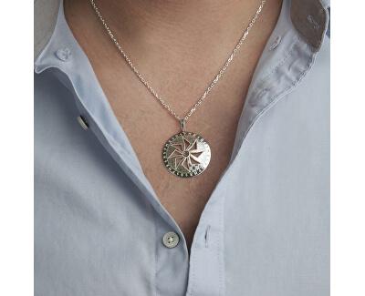 Pánský stříbrný náhrdelník Sol KO5006_MO060_50_RH  (řetízek, přívěsek)