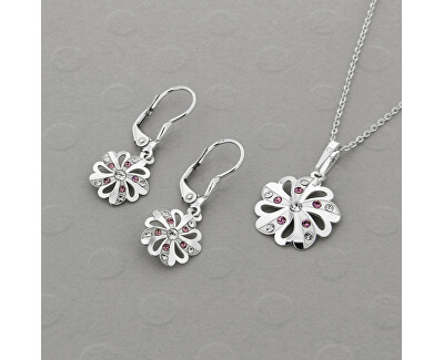 Překrásná souprava šperků s krystaly KO2097_NA1035_RH  (řetízek, přívěsek, náušnice)