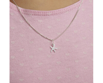 Jemná stříbrná sada Mořská hvězdice SE1330_CU035_40_NA0592_RH (řetízek, přívěsek, náušnice)