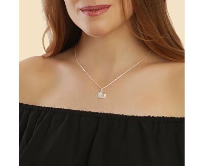 Romantický stříbrný náhrdelník Big love KO6328_BR030_45_RH (řetízek, přívěsek)