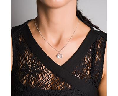 Romantische Silber Halskette KO5134_MO040_45 (Halskette, Anhänger)