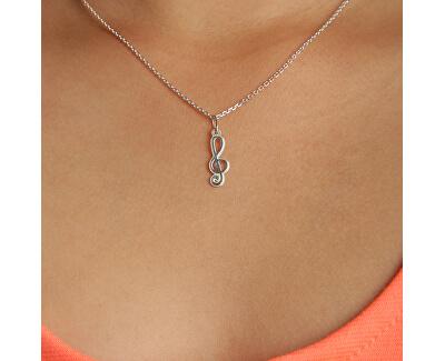 Stříbrný náhrdelník Houslový klíč KO0051_MO040_40_RH  (řetízek, přívěsek)