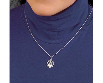 Stříbrný náhrdelník Madona s dítětem KO0870_BR030_43-7_RH  (řetízek, přívěsek)