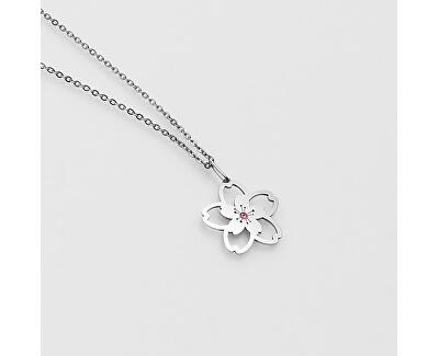 Stilvolle Silber Halskette mit Kristall KO5026JP (Halskette, Anhänger)