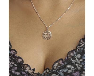 geheimnisvolle silberne Halskette KO1594_CU040_50 (Halskette, Anhänger)