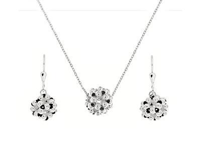 Designová stříbrná sada Bolla RPP211blk_RPN211blk_RH (náhrdelník, náušnice)