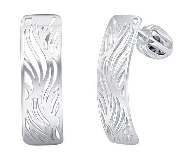 Designové stříbrné náušnice Silver river NA6333_RH
