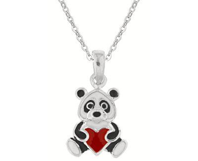 Kinder Silber Halskette Teddybär-Herz KO8042_BR030_40_N (Halskette, Anhänger)