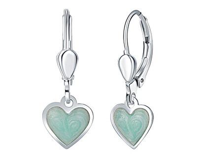 Dívčí stříbrné náušnice Mint srdce NA6348_RH