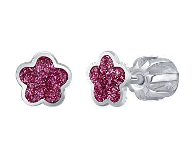 Drobné stříbrné náušnice Růžový květ NA6334_RH