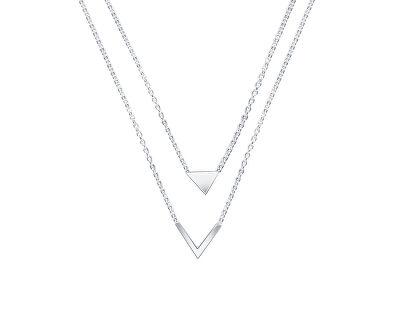 Dvojitý stříbrný náhrdelník New day N6413_RH