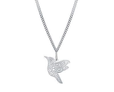 Elegantní stříbrný náhrdelník Kolibřík KO6358_CU035_45_RH (řetízek, přívěsek)