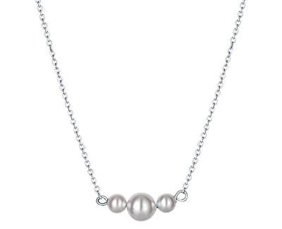 Elegantní stříbrný náhrdelník Satin pearl N6342_RH