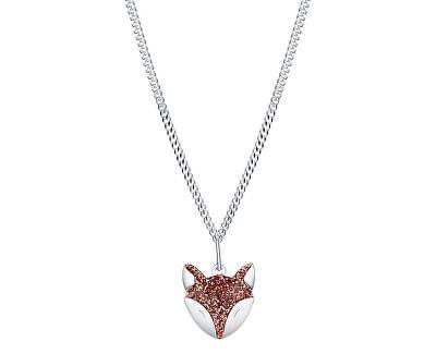 Hravý stříbrný náhrdelník Liška Bystrouška KO6351_CU035_40_RH (řetízek, přívěsek)
