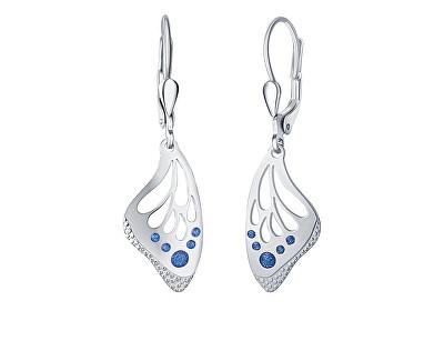 Krásné stříbrné náušnice Blue Butterfly NA6379_RH