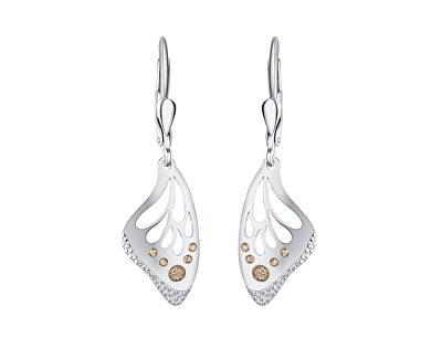 Krásné stříbrné náušnice Gold Butterfly NA6503_RH