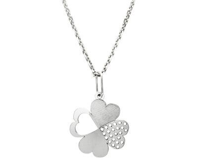Krásný stříbrný náhrdelník Čtyřlístek KO1430m_MO040_50_RH  (řetízek, přívěsek)