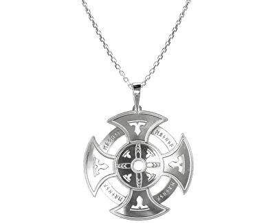 Pánský stříbrný náhrdelník Oxull KO5004_MO060_50_RH  (řetízek, přívěsek)