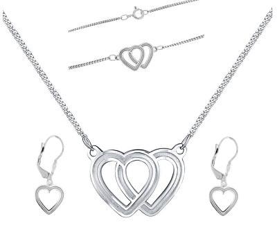 Překrásná souprava šperků Lovela N6061_KA6063_NA6064_RH (náhrdelník, náramek, náušnice)