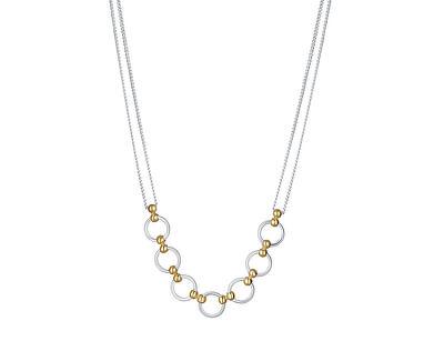 Půvabný bicolor náhrdelník ze stříbra Rona N6364_RH