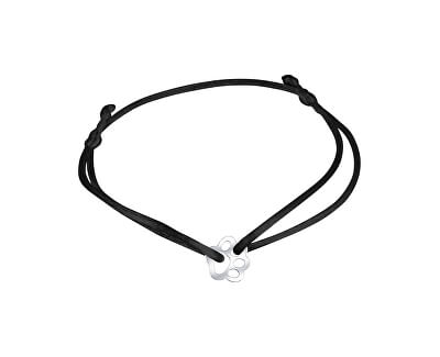 Schnur Kabbala Armband Pfote KA6177 in schwarz