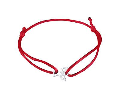 Šňůrkový červený kabala náramek Andělíček KA6164_RH