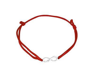 Šňůrkový červený kabala náramek Nekonečno KA6184_RH