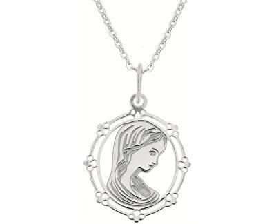 Stříbrný náhrdelník Pokora KO0863_BR030_43-7_RH (řetízek, přívěsek)