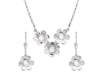 Stylový stříbrná sada šperků Flora N2094_NA0773_RH  (náhrdelník, náušnice)
